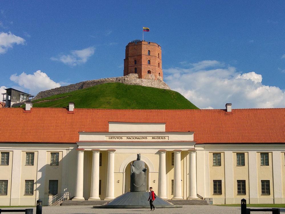 Around Lithuania National Museum and Gediminas Tower, Vilnius, Lithuania