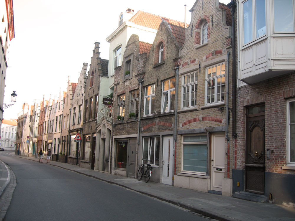 A Street in Bruges, Belgium